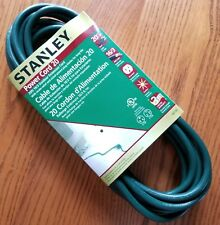 Stanley Power Cord 20 Christmas Outdoor Extension 20 ft Green Grounded  16/3 New