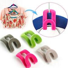 20Pc Flocked Hanger Connectors Hooks Space Saving Clothes Coat Garment Hook Fa2
