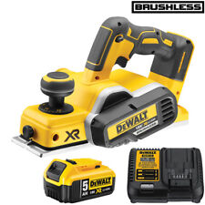 DeWalt DCP580N 18V XR Brushless Cordless Planer With 1 x 5.0Ah DCB184 & DCB115