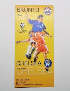 1999 UEFA Champions League Skonto vs FC Chelsea Programme