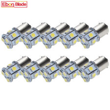 10 x 6V 1156 BA15S 1.32W LED 9 SMD White Car Bulb Light Brake Turn Tail Reverse