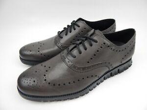 Cole Haan Zerogrand Pavement Grey Leather Wingtip Oxfords Men's sz 10 M C30720