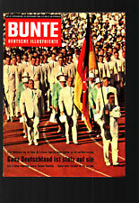 Bunte deutsche Illustrierte 10.9.1960 Liz Taylor, Pascale Petit, Gracia Patricia