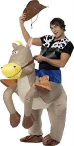 Ride Em Cowboy Inflatable Costume, Brown COST-UNI NEW