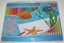 Coffret metal Set x30 Crayons Couleur 18 cm Coloriage Dessin Colored Pencil NEUF