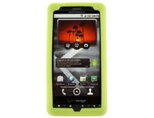 Silicone Skin Case Neon Green For Motorola Droid X