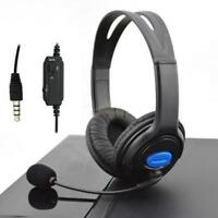 NEW Wired Gaming Headsets Headphones with Mic for PS4 Sony PlayStation 4 /PC UK