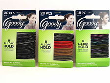 GOODY SLIDEPROOF SECURE FIT HAIR ELASTICS - 18-20 PCS. (30792, 06973)