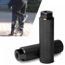 1 Pair Mountain Bike BMX Alloy Foot Stunt Peg Footrest Lever Cylinder Grip Axle-