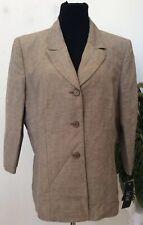 NWT Le Suit Women's Career Beige Linen Blend Blazer Jacket Size 18