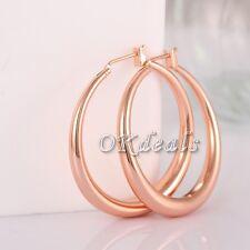 Anti Allergy Big Hoop Earrings18K Rose Gold Plated Fashion Jewelry For Women LOV