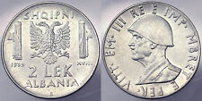2 Lek 1939 Albania (Anti Magnetica) Q.Spl A.XF #2852