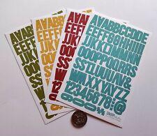 NO 196 Scrapbooking - 200+ Small Alphabet / Letters Stickers - Scrapbook