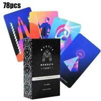 Mystic Mondays Tarot Deck 78 Cards Divination Prophet Cards Games No Manual