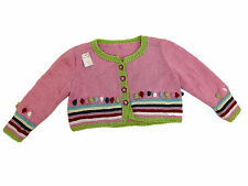 TRICOT FAIT MAIN - GILET MANCHES LONGUES - ROSE - TAILLE 2 ANS