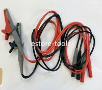 Clip Cable Terminal Kelvin Probe Wires w// 4 BNC LCR Meter Test Leads Lead