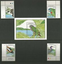 Dominica - 1990, Birds sheets  - MNH - plus 4 stamp set