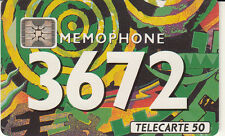France télécarte 50  Mémophone 3672