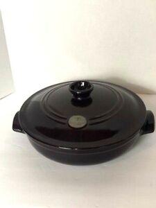 Emile Henry Flame Braiser Dutch Oven Braising Ceramic  Eggplant Discontinued