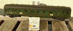 Meccano 733 Hornby Acho Personenwagen 2.kl. SNCF Epoche 3/5 gebraucht in OVP, DC