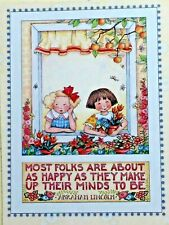 Mary Engelbreit Handmade Magnets-Most Folks Are About As Happy As They Make Up