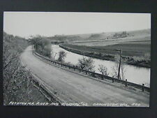 Darlington Wisconsin Pecatonica River & Hwy 62 Real Photo Postcard RPPC c1930-40