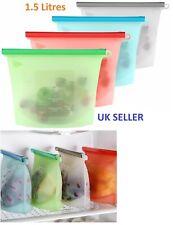 1.5 Litres Silicone Vacuum Food Sealer Bags Wraps Fridge Food Storage Container
