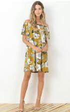 Stitch Fix Gilli  Floral Short Sleeve Dress Off Shoulder M Medium