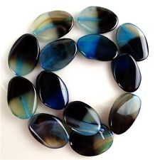 Wholesale 40x30mm Mixed Colour Onyx Agate Oval Loose Bead 15.5'' HBTZ66