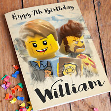 Lego City Personalised Birthday Card FREE Shipping | Son Brother Grandson Nephew