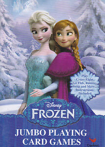 Cards Jumbo DISNEY FROZEN Elsa Anna Olaf Playing Deck NEW S2