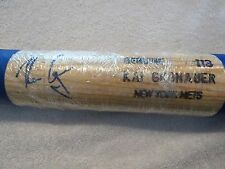KAI GRONAUER~BASEBALL~BAT~PLAYER~GAME~USED~SIGNED~AUTO~NYM~METS~AUTHENTIC