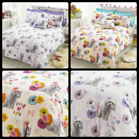 DUVET COVER SET PRINT BICHON PUPPY LOVE EASY CARE BED LINEN WITH PILLOWCASE