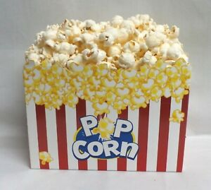 Fake food concessions drive in Large container of popcorn