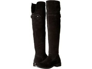 FRYE Women's Shirley Otk Suede Slouch Boot, Black, Size 8.5