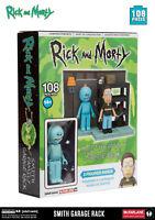 McFARLANE RICK AND MORTY - SMITH FAMILY GARAGE RACK - CONSTRUCTION SET - BAUSSET