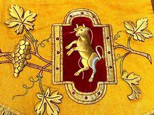 Antependium Fil d'Or Eglise Linge Liturgique Devant Autel XIX ème Orfroi IHS