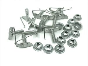 """12 pcs Buick Cadillac Chevy  door body clips & nuts for 1/2"""" - 5/8"""" moulding 622"""