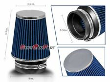 """3.5 Inches 3.5"""" 89 mm Cold Air Intake Narrow Cone Filter Quality BLUE Ford"""