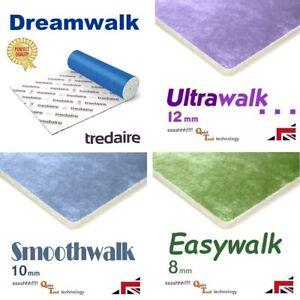 Carpet underlay Tredaire Dreamwalk + Ultrawalk Smoothwalk Easywalk 8-12mm thick