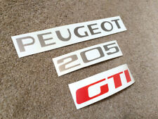 PEUGEOT 205 GTI REAR BADGE REPAIR KIT VINYL STICKER DECALS