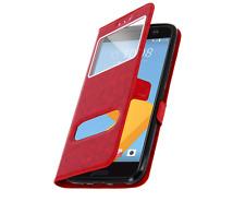 Housse Etui Folio HTC Desire 820 - Doubles Fenetres - Rouge