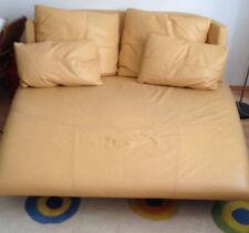 Rolf Benz Longchair Gelb Leder mit zwei Kissen zusätzlich