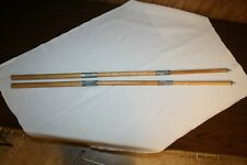 WWII US ARMY COLLAPSIBLE SHELTER HALF TENT POLES BY MUNISING WOOD PRODUCTS