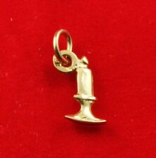 NEW 9ct Yellow Gold Candle Pendant 9K Charm 375 Solid Light Candlestick Wish