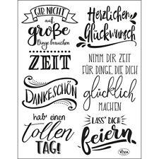 """Stempel """"Lettering Deutsch"""" Viva Decor, Sprüche, Text, Clear Stamp"""