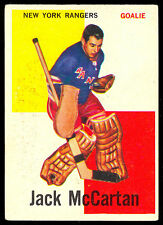 1960 61 TOPPS HOCKEY #39 JACK McCARTAN RC VG-EX N Y NEW YORK RANGERS ROOKIE CARD