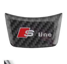 Adesivo volante S line fibra di carbonio per Audi A3 A4 A5 A6 Q3 Q5 Q7