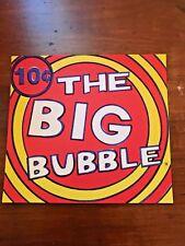vintage Bubble Gum Vending Machine Display Card The big bubble 10 cent