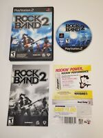 Rock Band 2 PS2 Black Label (Sony PlayStation 2, 2008) CIB Complete Game Manual
